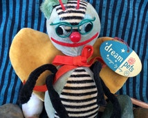 Vintage Bubble Bee Stuffed Animal by R. Dakin & Co. Dream Pets 60's Japan with Hang Tag
