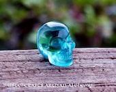 """BLUE OBSIDIAN Gemstone Skull, 1.5"""""""