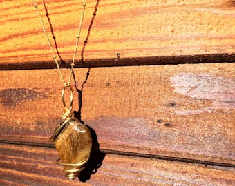 Tigers eye gold necklace