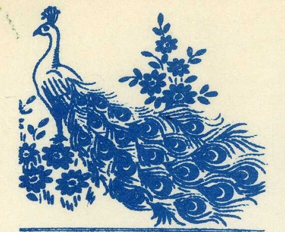 Vintage embroidery transfer peacocks for towels pillow