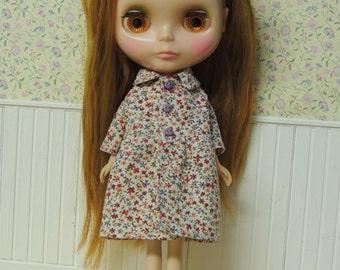 Floral Mori Over Coat for Blythe