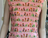 1950's reproduction Classic Summer Blouse. Goldilocks and the Three Bears