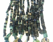 Ancient roman glass beads whole strand tiny nuggets and 1 pendant