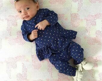 newborn Norah - Petite felt flower crown fall colors