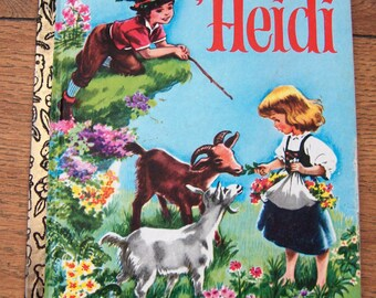 vintage 50s/70s  little golden book Heidi