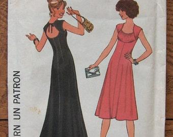 Vintage 70s Simplicity pattern 7806 Misses DRESS  sz 10 b32 1/2