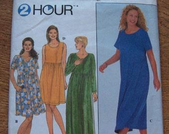1998 simplicity pattern 8191 misses plus sizes knit dress sz 26W-32W