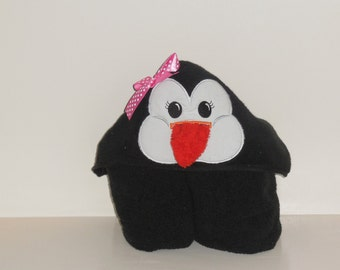 Hooded Towel- Penguin