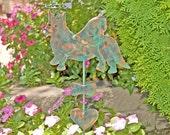 Cardigan Welsh Corgi / Angel Pet Memorial Dog / Metal Yard Art / Grave Marker / Copper Garden Art / Garden Stake / Corgi Sculpture