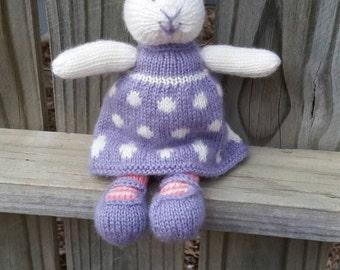 Bunny, Rabbitt, stuffed bunny, stuffed rabbitt, knit bunny, knit rabbitt, stuffed animal, bunny photo prop