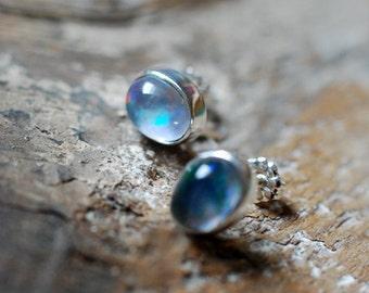 Idaho Opal Triplet Studs October Birthstone