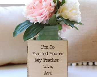 Personalized Gift For Teacher Back to School First Day of School Gift Kindergarten Preschool Teachers Gift (NVMHDAY0761)