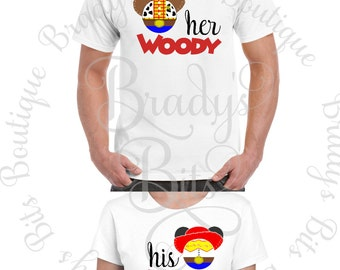 Disney Shirt Toy Story Shirt - His Jessie  - Her Woody