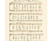 BE THOU My VISION --- 11 X 14 Antique Hymn Art Print on Natural Parchment Sepia Brown Christian Heritage Sheet Music Celtic Irish Folk Tune