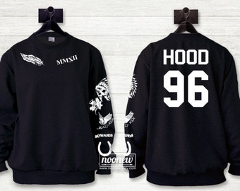 Calum Hood Tattoos Black Sweatshirt Sweater Crew Neck Shirt Add Hood 96 Sweatshirt – Size S M L XL