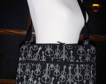 Let there be music! Sheet Music Bag w/stabilizer - Large, pocket, divider