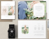 Wedding Photographer Magazine Template - Wedding Brochure - Photography Price List - Wedding Welcome Guide Templates - m0241