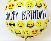 Emoji Balloon, Emoji Photo Booth, Emoji Balloon Photo Prop, Emoji Photo Prop ,Happy Birthday Emoji Balloon,Emoji Decoration, Emoji Party
