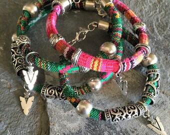 southwest woven bracelet