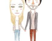 CUSTOM WATERCOLOR PORTRAIT  (couple)