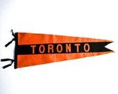 Vintage Toronto Pennant, Souvenir Pennant, Toronto Felt Pennant, Travel Pennant, Canadian Pennant
