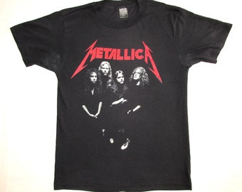 Metallica Vintage 80's ...And Justice For All Concert T Shirt 1988 Group Shot L