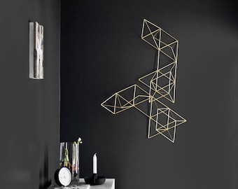 LUX - Large Abstract Wall Sculpture - Geometric Art - Himmeli