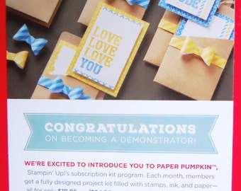 Love you a lot 2015 Paper Pumpkin by Stampin' Up! Card kit Stampin Up Dad dude love mom hey thanks stamp plus cards ink and supplies