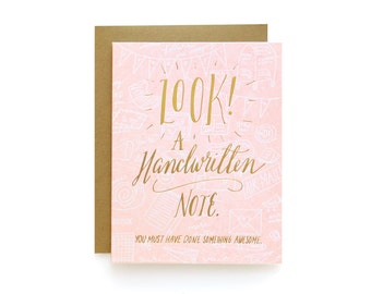 Look/Note - letterpress card