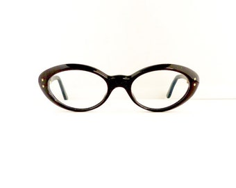 Vintage 1950s Nora Cats Cateye Eyeglasses Women's Black with Stars Frames  Made in France Comes with Vintage Case  #M280 DIVINE