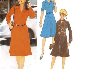 1970s Drop Waist Dress Pattern Burda Patterns 20673 B37