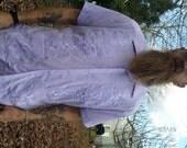30% OFF 70s Guayabera Shirt in Purple/ 70s Shirt/ Mens Guayabera Shirt/ Mens Shirt Size L by La Fiesta