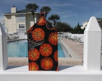 Basketball and Hoops Luggage Tag