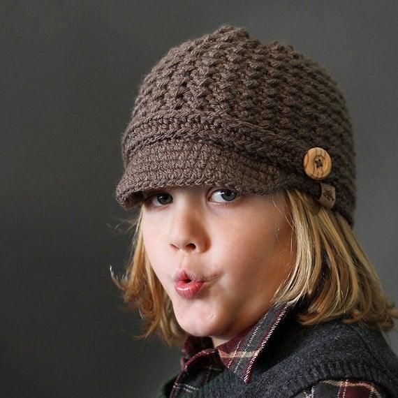 Crochet Newsboy Hat : HANDMADE CROCHET NEWSBOY Hat Brookside Newsboy Cap