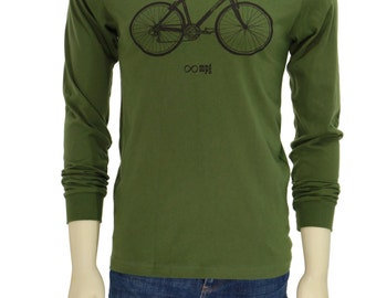 Bicycle | Long Sleeve T Shirt | Soft lightweight | Infinity symbol