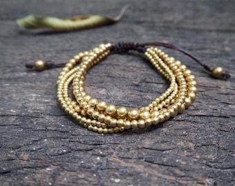 Mix Brass Knot Bracelet/ Anklet