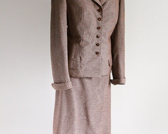 1940s Wool Skirt Suit- size M