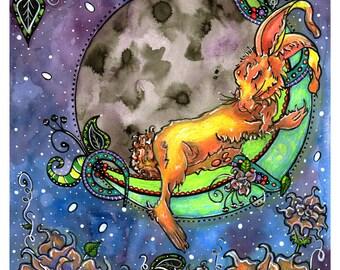 Moon Rabbit - Art Print