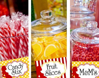 Ready to Pop Popcorn Candy Table Buffet Label Baby Shower Party Printable - Stick to Your Story