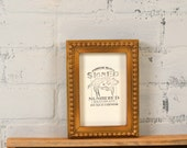 4x6 Picture Frame in Bumpy Trim Style with Vintage Old Gold Finish - IN STOCK - Same Day Shipping - Handmade 4x6 Photo Frame Gold