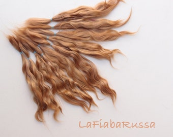 Brown Mohair Doll Hair extra long locks 8-10 in for reroot Blythe, pukifee, reborn, waldorf, pullip, neemo, bjd, doll wig, Lafiabarussa
