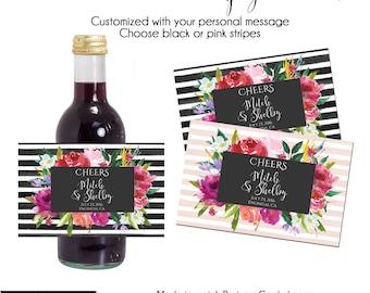 Mini Champagne Label,  Small Wine Label, Custom Wine Label, Printable Wine Label, Mini Wine Label, Mini Champagne Label, Wine Labels