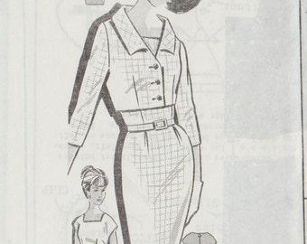 Vintage Mail Order Sewing Pattern 1488 / Sheath Dress And Bolero jacket / Size 18 Bust 38