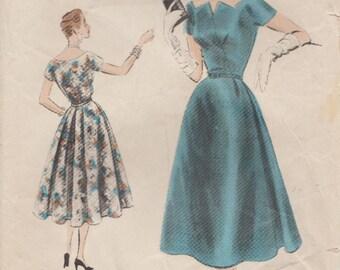 Vogue 4475 / Special Design / Vintage 50s Sewing Pattern / Dress / Size 14 Bust 32