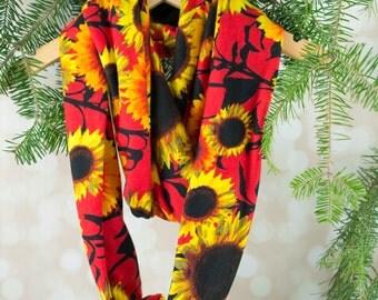 Infinity Scarf - Sunflower Jersey Knit