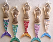 Custom Order for Luvp Mermaid Carved from Wood Hand Decorated and Painted Over 2 FT Long !
