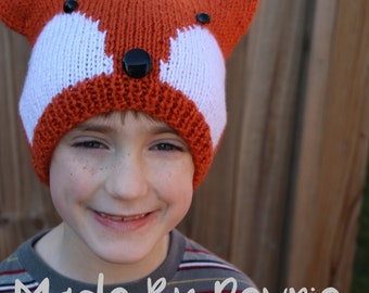 Knitting Pattern For Child s Fox Hat : Unique knit fox hat related items Etsy