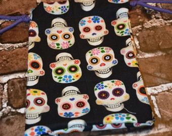 Dia De Los Muertos Sugar Skull Drawstring bag