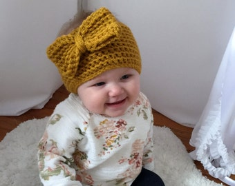 Ribbed Ear Warmer with Bow Crochet Pattern-(baby to adult)Permission to sell finished items.Immediate PDF file download.