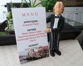 Menu Card - Venice Canal -  Italy- Destination Wedding, Italian Theme, Dinner Party Table Decor